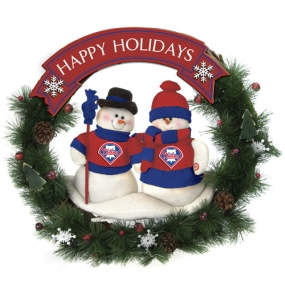 Philadelphia Phillies Snowman Wreath