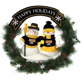 Pittsburgh Pirates Snowman Wreath