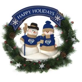 San Diego Padres Snowman Wreath
