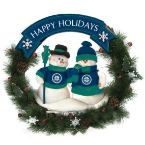 Seattle Mariners Snowman Wreath