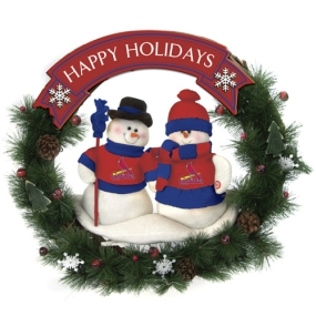 St. Louis Cardinals Snowman Wreath