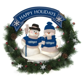 Toronto Blue Jays Snowman Wreath