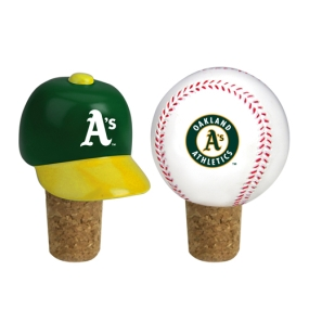 Oakland A's Bottle Cork Set