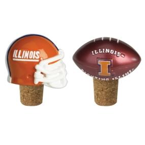 Illinois Fighting Illini Bottle Cork Set