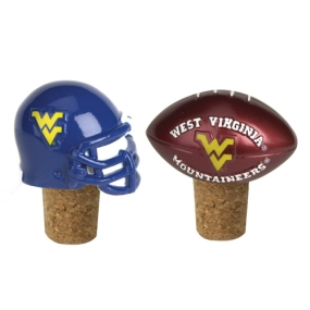 West Virginia Mountaineers Bottle Cork Set
