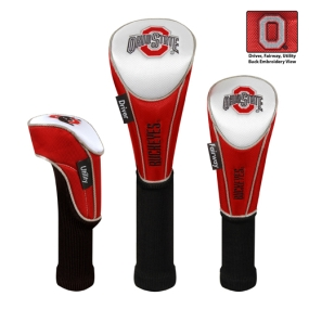 Ohio State Buckeyes Set of 3 Golf Club Headcovers