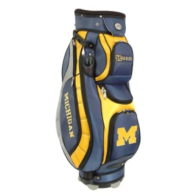 Michigan Wolverines Letterman's Club II Cooler Cart Golf Bag
