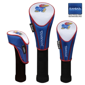 Kansas Jayhawks Set of 3 Golf Club Headcovers