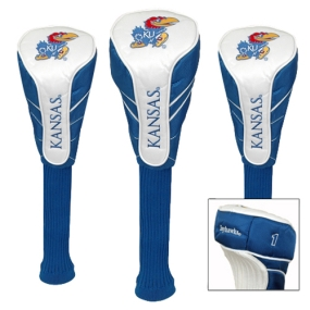 Kansas Jayhawks Nylon Golf Headcovers