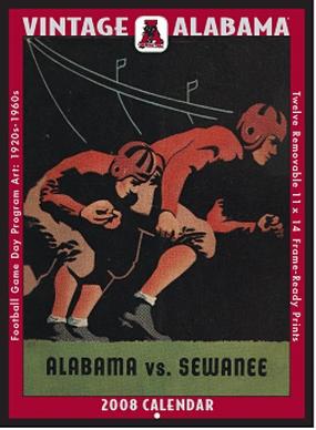 Alabama Crimson Tide 2008 Vintage Football Program Calendar