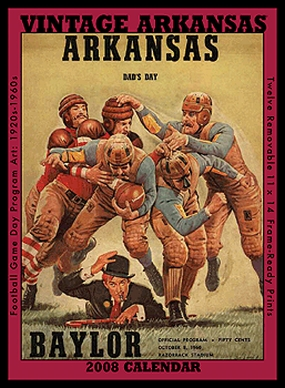 Arkansas Razorbacks 2008 Vintage Football Program Calendar