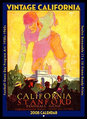 California Golden Bears 2008 Vintage Football Program Calendar