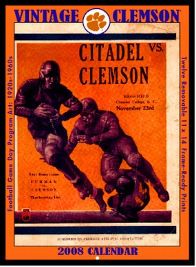 Clemson Tigers 2008 Vintage Football Program Calendar