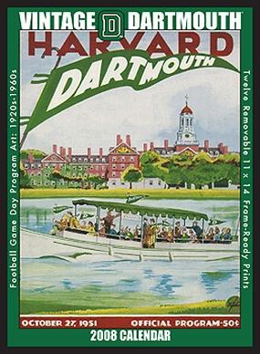 Dartmouth Big Green 2008 Vintage Football Program Calendar