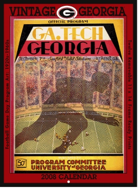 Georgia Bulldogs 2008 Vintage Football Program Calendar