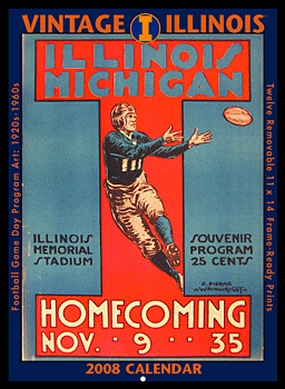 Illinois Fighting Illini 2008 Vintage Football Program Calendar