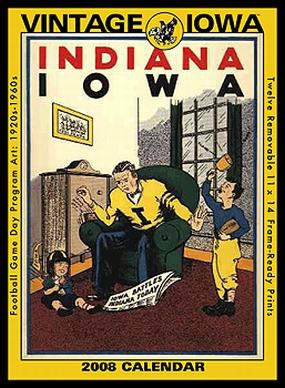 Iowa Hawkeyes 2008 Vintage Football Program Calendar