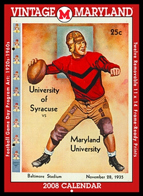 Maryland Terrapins 2008 Vintage Football Program Calendar