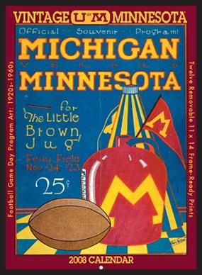 Minnesota Golden Gophers 2008 Vintage Football Program Calendar