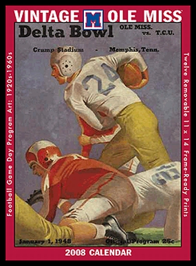 Mississippi Rebels 2008 Vintage Football Program Calendar