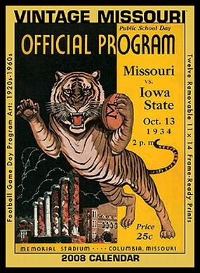 Missouri Tigers 2008 Vintage Football Program Calendar