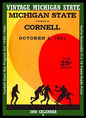 Michigan State Spartans 2008 Vintage Football Program Calendar