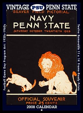 Penn State Nittany Lions 2008 Vintage Football Program Calendar