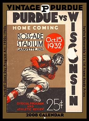 Purdue Boilermakers 2008 Vintage Football Program Calendar