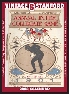 Stanford Cardinal 2008 Vintage Football Program Calendar