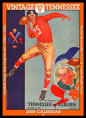 Tennessee Volunteers 2008 Vintage Football Program Calendar