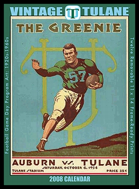 Tulane Green Wave 2008 Vintage Football Program Calendar