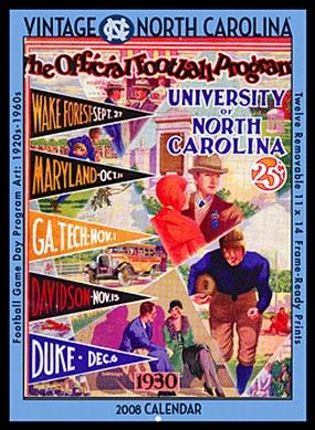 North Carolina Tar Heels 2008 Vintage Football Program Calendar