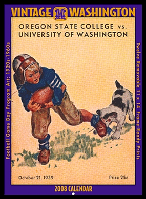 Washington Huskies 2008 Vintage Football Program Calendar