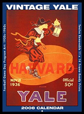Yale Bulldogs 2008 Vintage Football Program Calendar