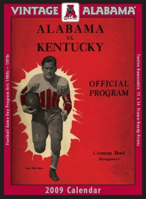 Alabama Crimson Tide 2009 Vintage Football Program Calendar