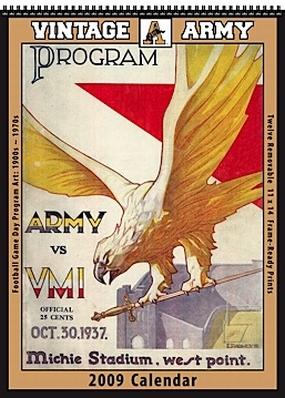 Army Black Knights 2009 Vintage Football Program Calendar