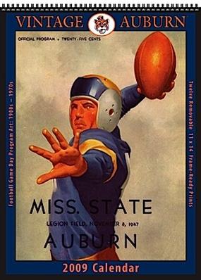 Auburn Tigers 2009 Vintage Football Program Calendar