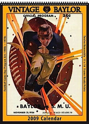 Baylor Bears 2009 Vintage Football Program Calendar