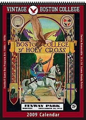 Boston College 2009 Vintage Football Program Calendar
