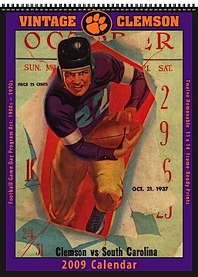 Clemson Tigers 2009 Vintage Football Program Calendar