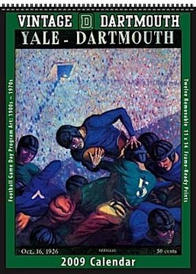 Dartmouth Big Green 2009 Vintage Football Program Calendar