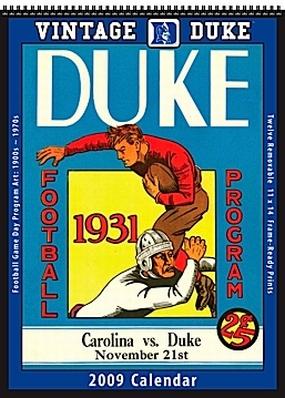 Duke Blue Devils 2009 Vintage Football Program Calendar