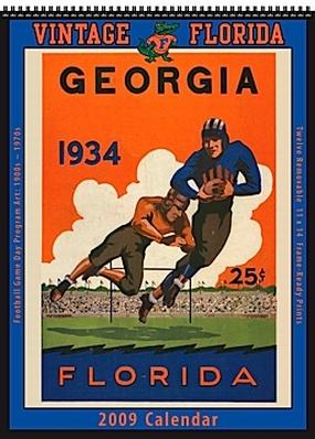 Florida Gators 2009 Vintage Football Program Calendar
