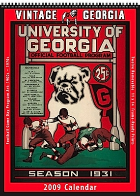 Georgia Bulldogs 2009 Vintage Football Program Calendar
