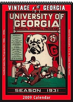Georgia Bulldogs 2009 Vintage Football Program Calendar