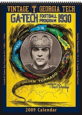 Georgia Tech Yellow Jackets 2009 Vintage Football Program Calendar