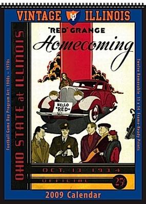 Illinois Fighting Illini 2009 Vintage Football Program Calendar