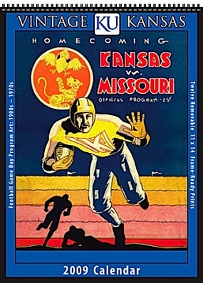 Kansas Jayhawks 2009 Vintage Football Program Calendar