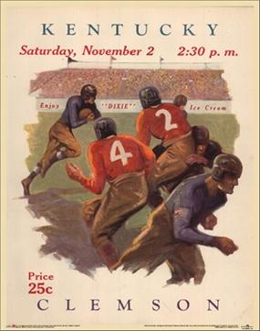 Kentucky Wildcats 2009 Vintage Football Program Calendar