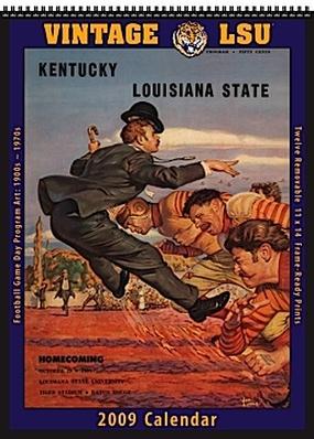 LSU Tigers 2009 Vintage Football Program Calendar